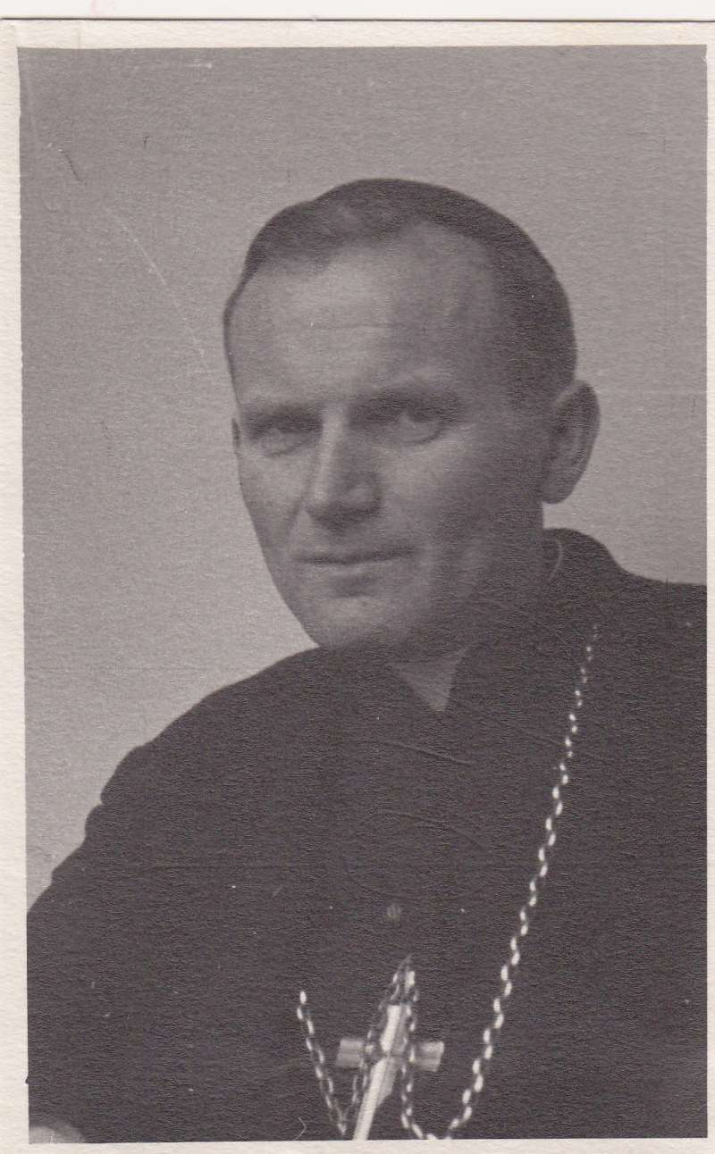 Black & White Photo of John Paul II as Bishop Karol Wojtyla