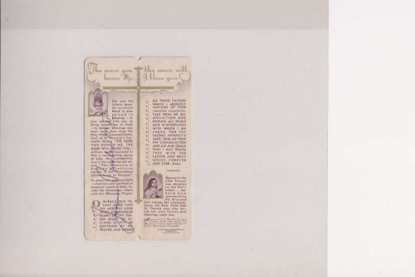 Bookmark From the 1940's, Signed As Pope John Paul II