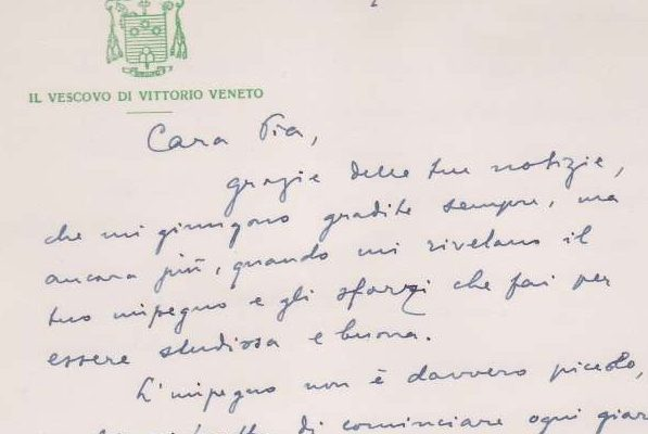 Notecard Written on Both Sides by the Future Pope John Paul I