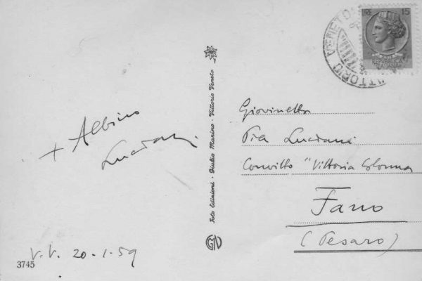 Postcard, Signed and Dated