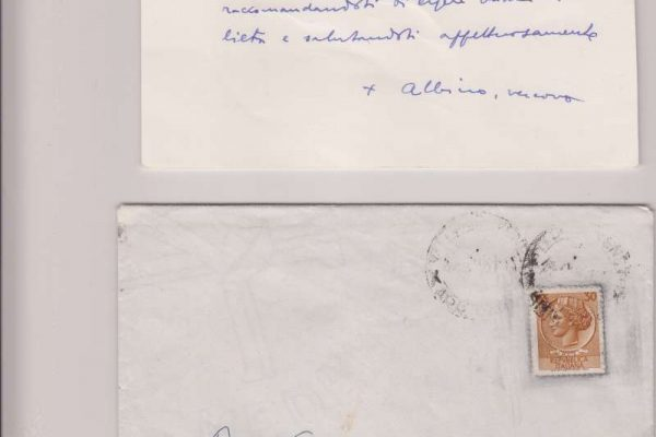 Note Card Signed by Pope John Paul I as Bishop