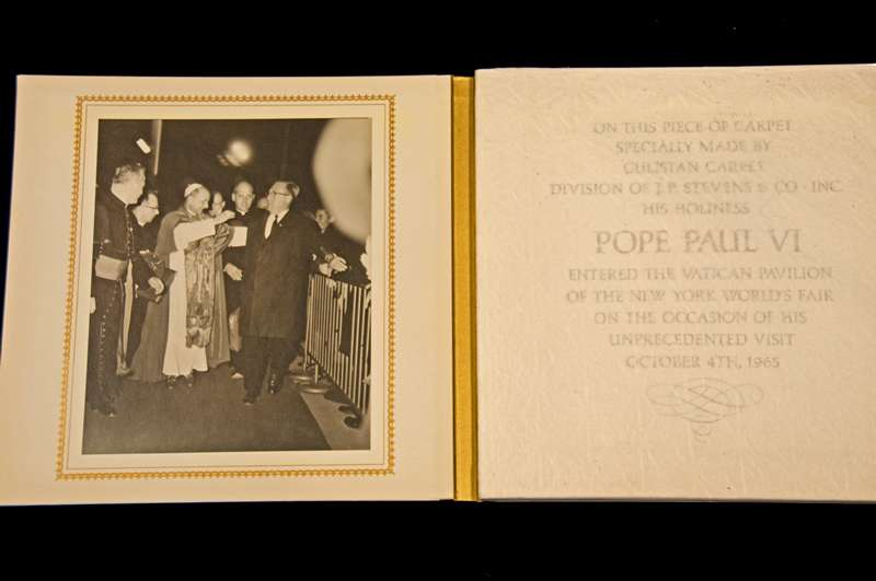Red Carpet From Pope Paul VI's Visit to the United States on October 4th, 1965 (front)