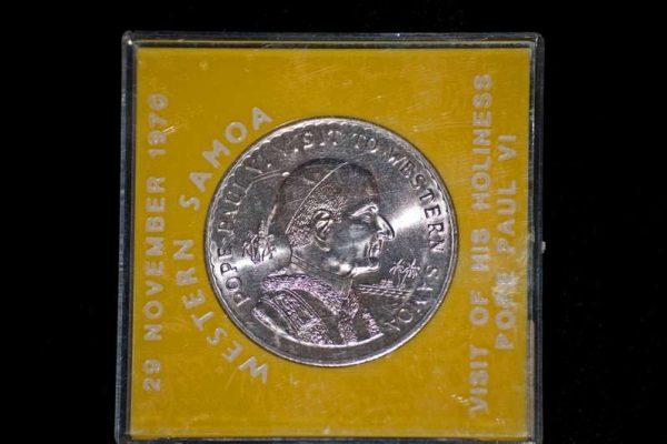 Western Samoan Coin Commemorating Pope Paul VI's Visit in 1970