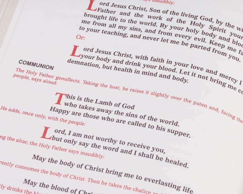 Sacramentary Used by Pope John Paul II at the Masses Celebrated During His Trip to the United States in 1995