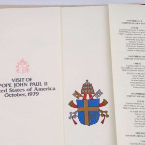 Menu From Shepherd I, Dated October 1979