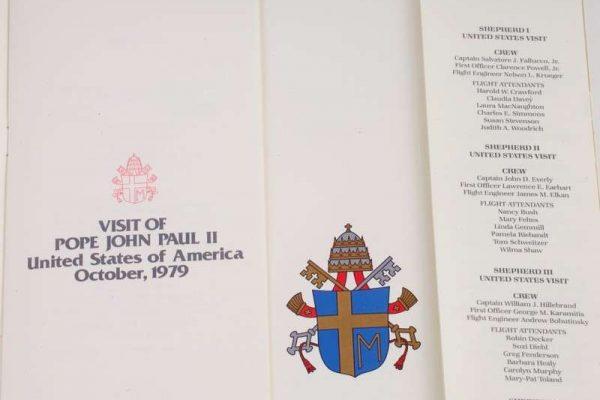 Saint John Paul II: Menu From Shepherd I, Dated October 1979