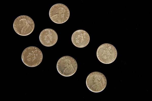 Eight Coins From The Pontificate of Pope Paul VI