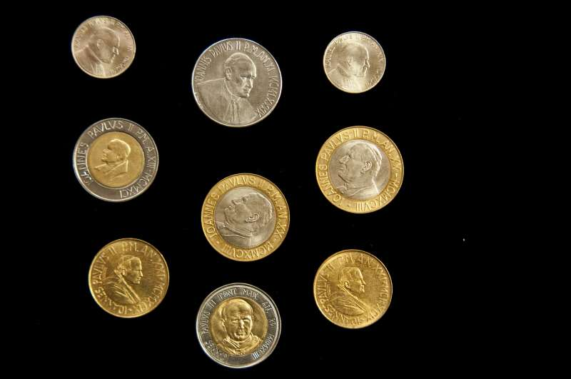 Collection of Coins From Saint John Paul II Pontificate