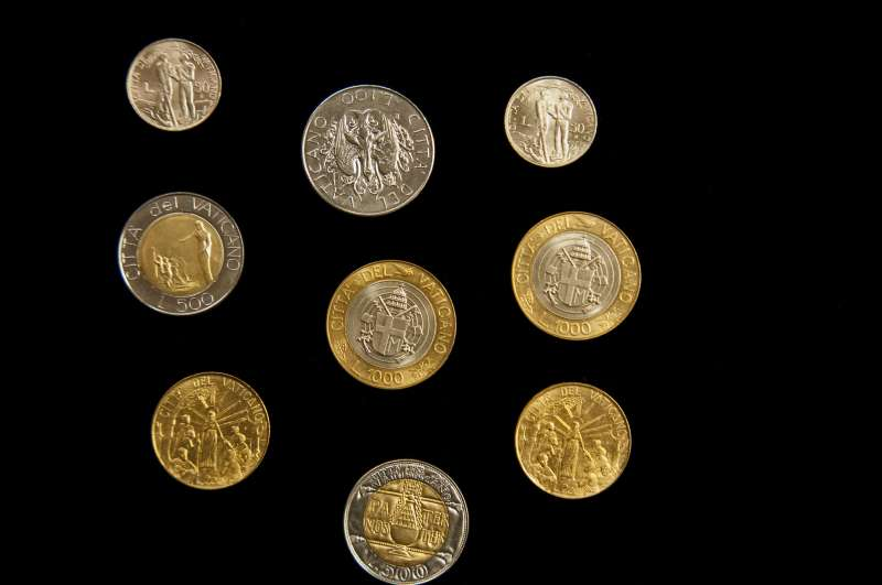 Collection of Coins From Saint John Paul II Pontificate (back)