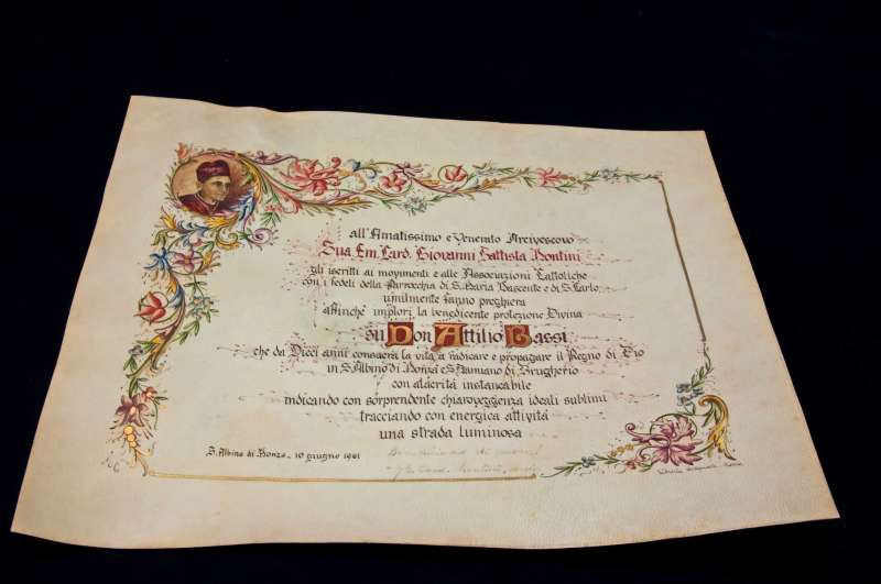 An Illuminated Manuscript Signed by Archbishop Giovanni Battista Montini Dated June 10, 1961