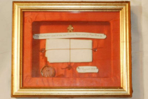 Last Purificator Used by Pope Paul VI, Dated August 3rd, 1978