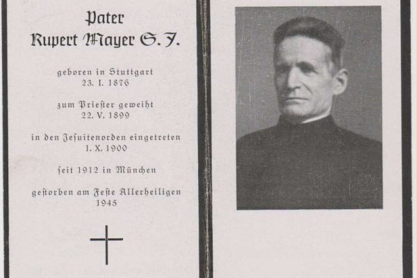 Blessed Rupert Mayer Funerary Card