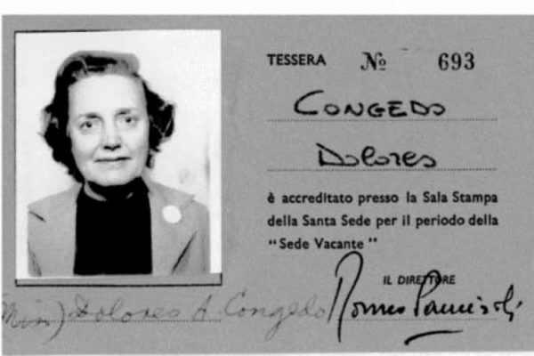 Press Pass Issued During the Sede Vacante Period in 1978