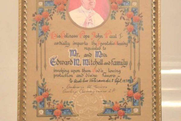 Very Rare Apostolic Blessing by Pope John Paul I