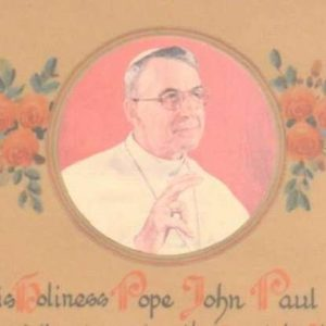 Pope John Paul I Apostolic Blessing