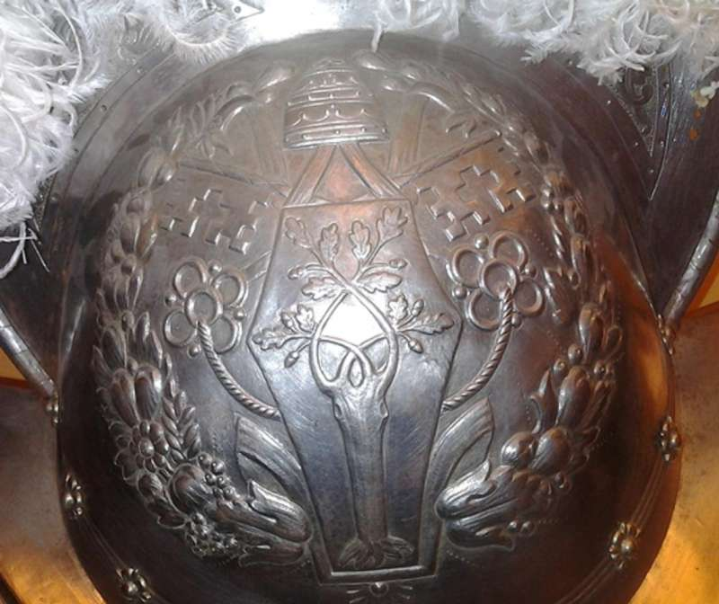 Embossing on Morion Helmet