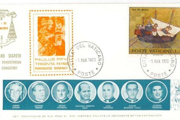 FDC Stamps of the Consistory of 5 March, 1973: the Future Pope John Paul I