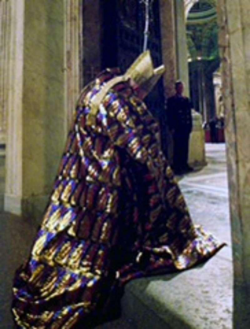 Pope John Paul II at Holy Door, Jubilee 2000