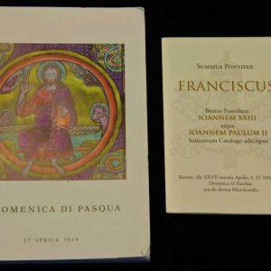 Mass Booklet & Holy Card from the Canonizations of Saint John Paul II & Saint John XXIII, April 27, 2014