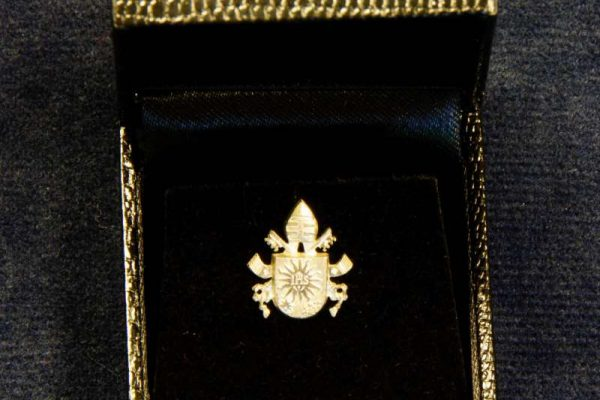 Lapel Pin with the Coat of Arms of Pope Francis, Made Specifically for the Swiss Guard