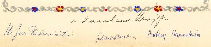 Signature of +Karol Cardinal Wojtyla