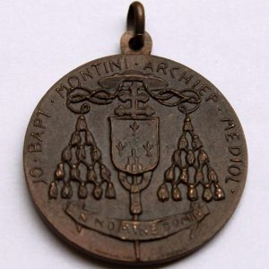 Coat of Arms of Cardinal Montini on Bronze Medal