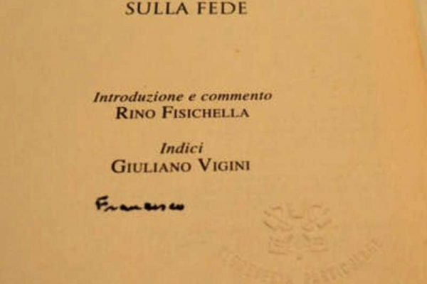 Autographed Copy of Lumen Fidei, The First Encyclical of Pope Francis