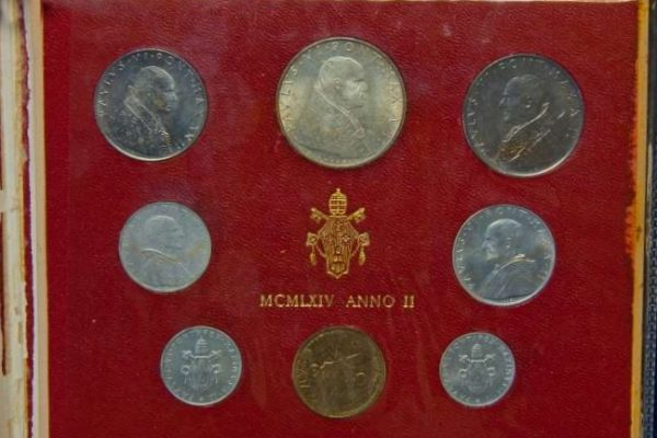 Coin Set from the Second Year of Paul VI's Pontificate, 1964
