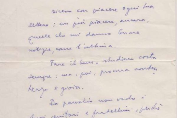 Letter, Signed by the Future Pope John Paul I, Dated 1959