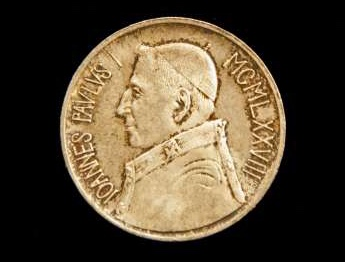 Coin From the Pontificate of  John Paul I