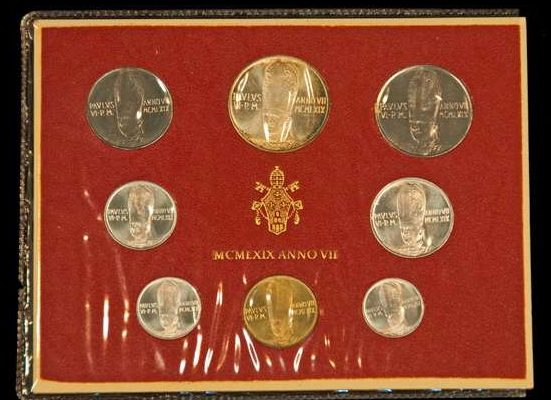 Coins Minted at the Vatican  From 1969: Pope Paul VI