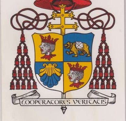 Pope Benedict XVI: Holy Card with His  Cardinal Coat of Arms