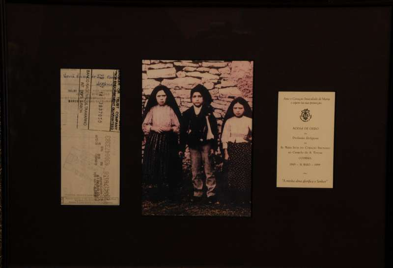 Endorsed Check From Sr. Lucia of Fatima in 1999