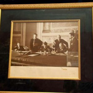 Original Framed Photo of the Signing of the Lateran Treaty