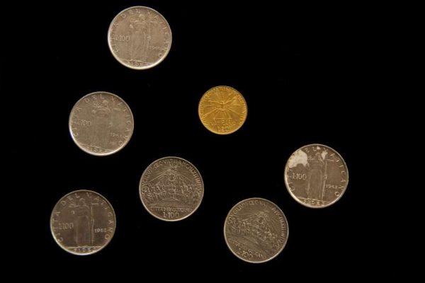 Seven Coins From The Pontificate of Saint John XXIII