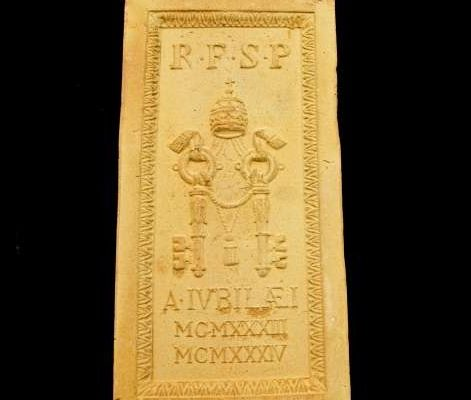 Brick of the Holy Door of St. Peter's Basilica From the Extraordinary Holy Year of 1933: Pius XI