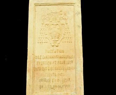 Brick of the Holy Door of Saint Mary Major From the Holy Year, 1925: Pius XI