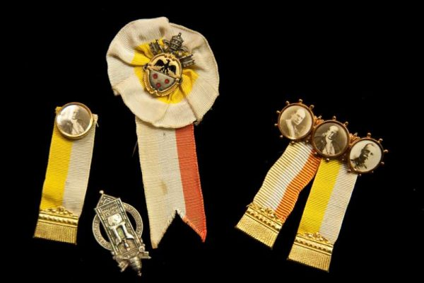 Pins Commemorating the Signing of the Lateran Treaty of 1929 and the 50th Anniversary of Pius XI's Priesthood