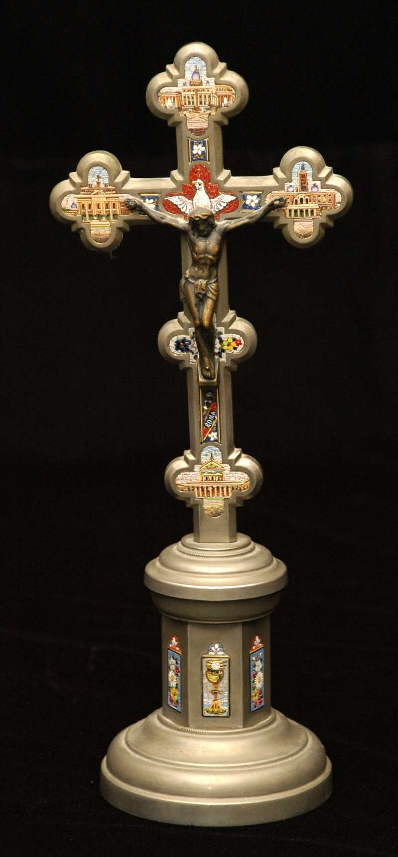 Standing Crucifix With Micro Mosaics
