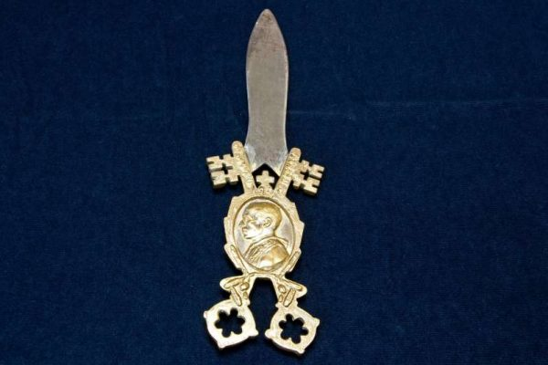 Oversized Letter Opener: Pope Pius XII