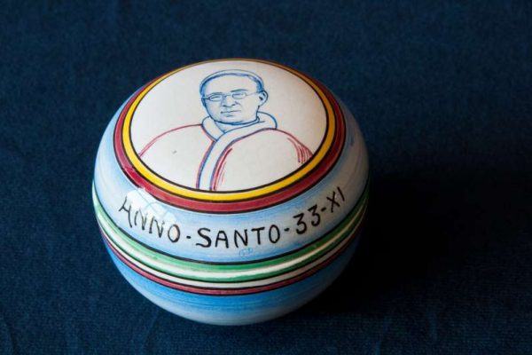 Ceramic Pot with Image of Pope Pius XI from the 11th Year of His Pontificate