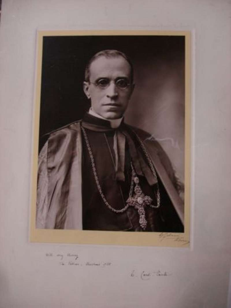 Signed Photograph of Cardinal Eugenio Pacelli from 1938