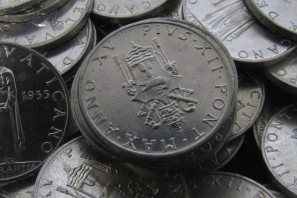 1953 Uncirculated Lira Coins: Pope Pius XII