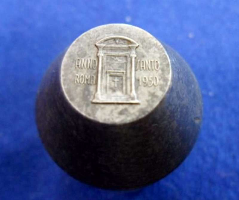 Metal Mold for Commemorative Medals from the 1950 Holy Year