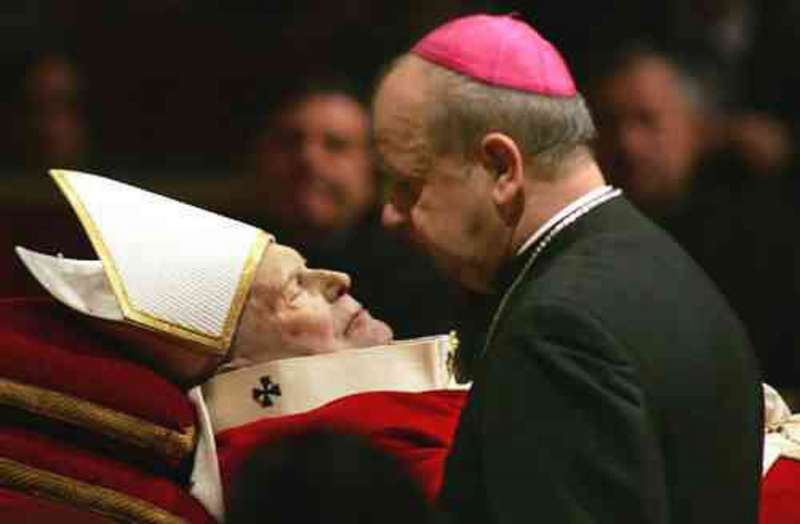 The Bishop (now Cardinal) & the Pope