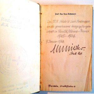 Signature Inside New Testament