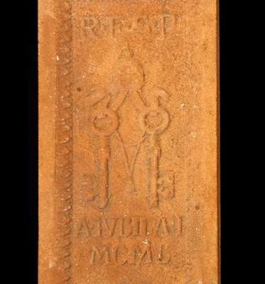 Replica of a Holy Year Brick From the Pontificate of Venerable Pius XII