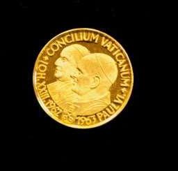 Gold Medal, A Ducat, Commemorating Vatican II, 1963