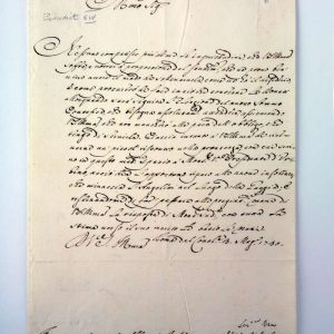 Letter Written As Cardinal Lambertini, Dated 1730