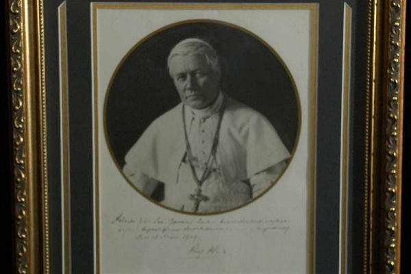 Blessing Signed by Saint Pius X For Fr. Trobec